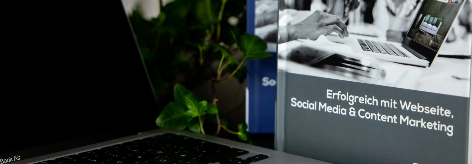 """Online-Marketing-Header: Buchcover """"Erfolgreich mit Webseite, Social Media & Content Marketing"""""""