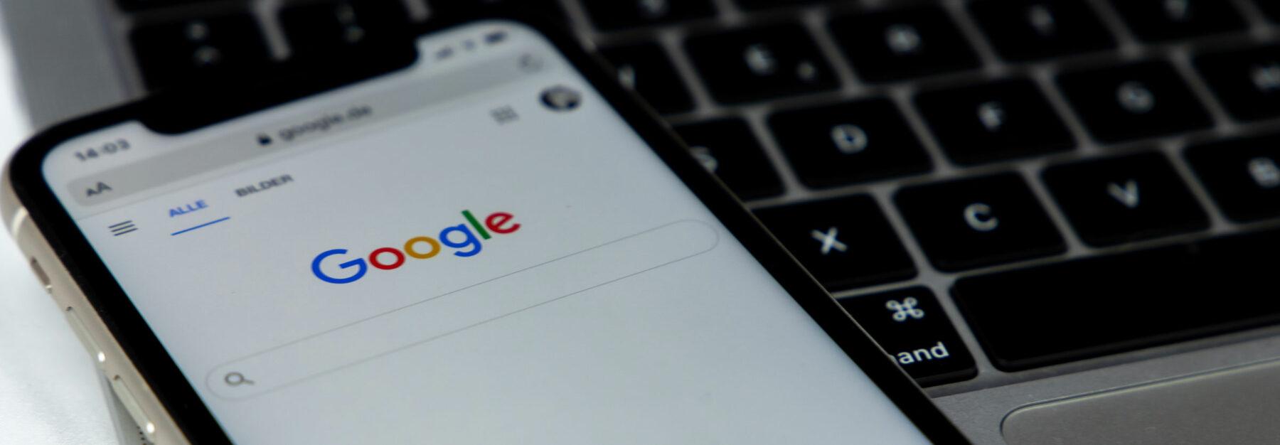 Referenzen-Header: Google-Suche Mobil-Ansicht