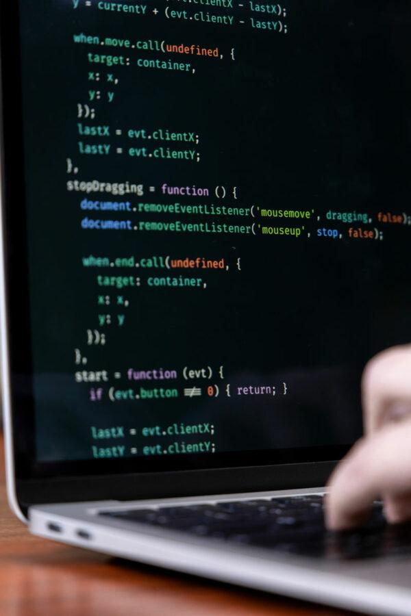 Laptop-Ansicht Programmierung Codes