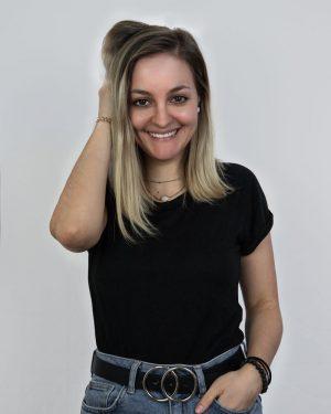 Teamfoto Mitarbeiterin Anna
